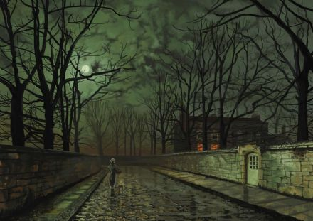 Grimshaw, John Atkinson: Silver Moonlight. Fine Art Print/Poster. Sizes: A4/A3/A2/A1 (003230)
